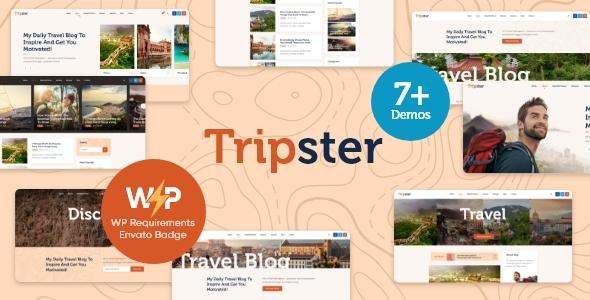 Wordpress Blog Template Tripster - Travel & Lifestyle WordPress Blog