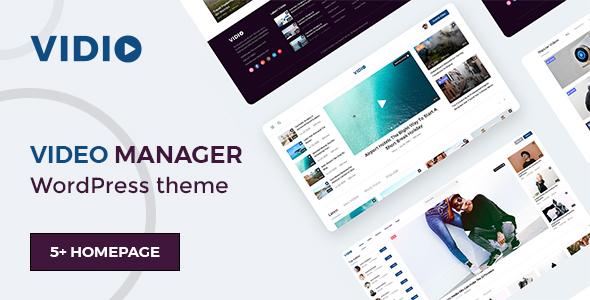Wordpress Blog Template Vidio - Video Manager WordPress theme