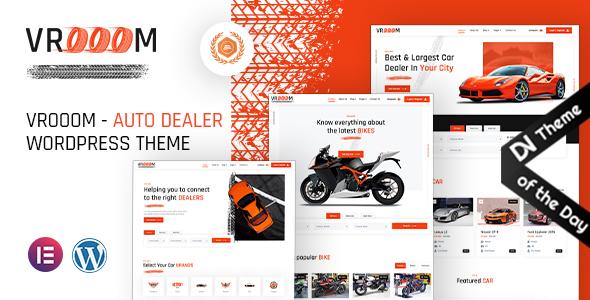 Wordpress Directory Template Vrooom - Auto Dealer WordPress Theme
