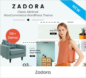 Zadora - Sauberes, minimales WooCommerce WordPress-Theme