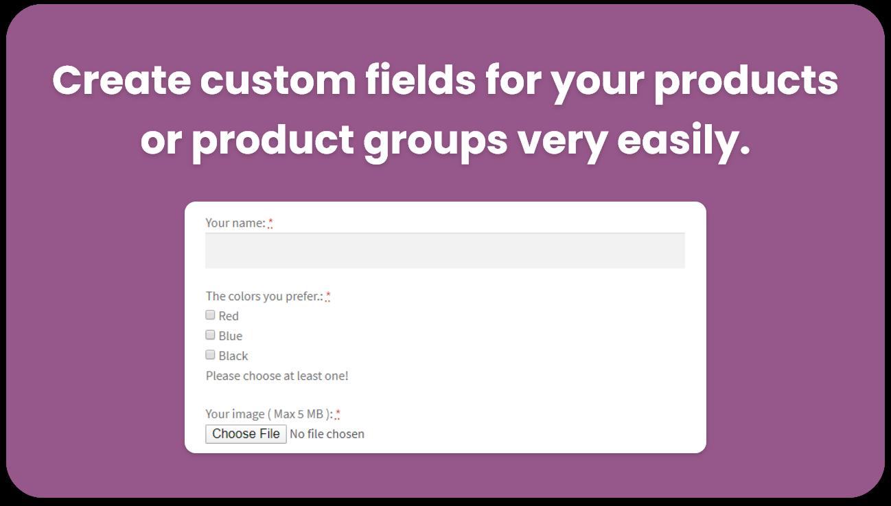 WeasyFields: WooCommerce Easy Custom Fields - 1