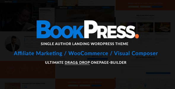 Wordpress Immobilien Template BookPress Single Author WP Landing Theme