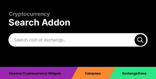 Wordpress Add-On Plugin Cryptocurrency Search Addon