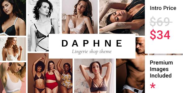 Wordpress Shop Template Daphne - Lingerie Shop Theme