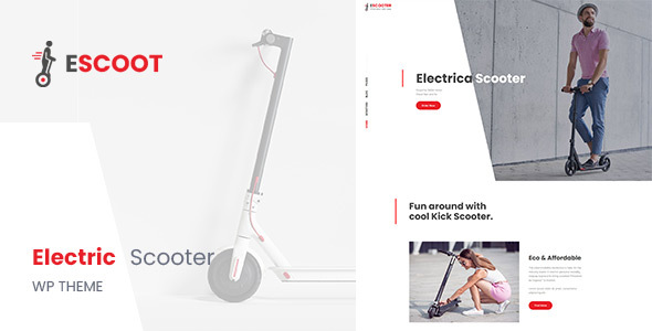 Wordpress Shop Template EScoot - Single Product eCommerce Theme