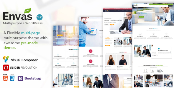 Wordpress Immobilien Template Envas - Multipurpose WordPress