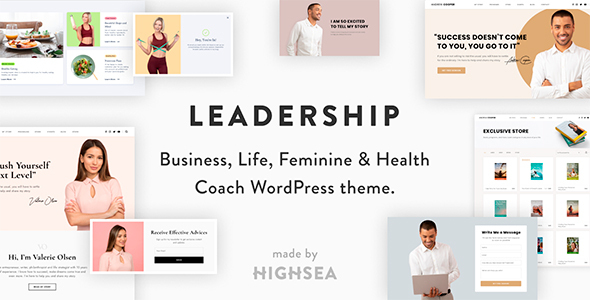 Wordpress BILDUNG Template Leadership — Coach WordPress Theme