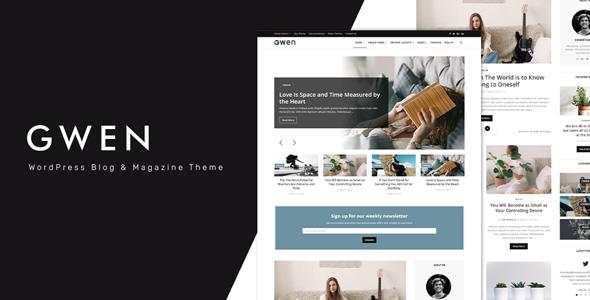 Wordpress Blog Template Gwen - Creative Personal WordPress Blog Theme