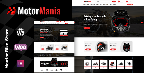 Wordpress Shop Template MotorMania | Motorcycle Accessories WooCommerce Theme