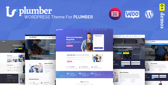 Wordpress Immobilien Template Plumber Pro - WordPress Theme for Construction & Repairing Services