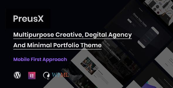 Wordpress Kreativ Template PreusX - Digital Agency And Portfolio WordPress Theme
