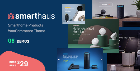 Wordpress Shop Template Smarthaus - Smarthome Products WooCommerce Theme