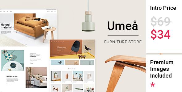 Wordpress Shop Template Umeå - Furniture Store