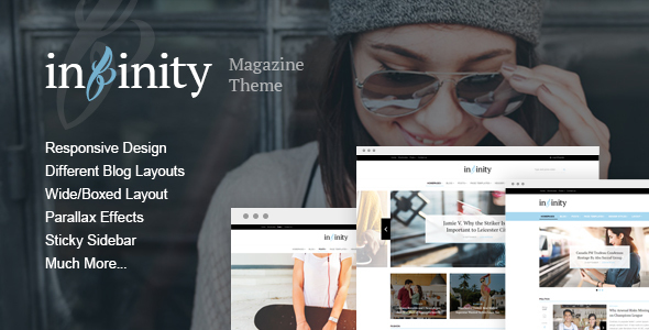 Wordpress Blog Template Infinity - Your Lifestyle News Theme