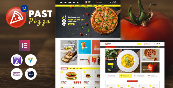Wordpress Shop Template Past - Pizza and Fast Food  WooCommerce Theme