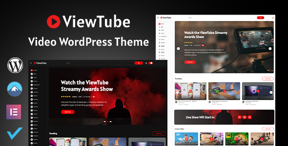 Wordpress Entertainment Template ViewTube   Video WordPress Theme