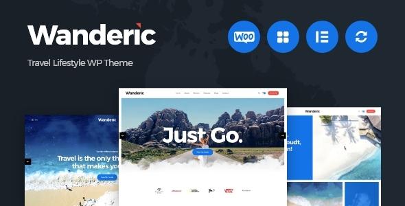 Wordpress Blog Template Wanderic - Travel Blog & Lifestyle WordPress Theme