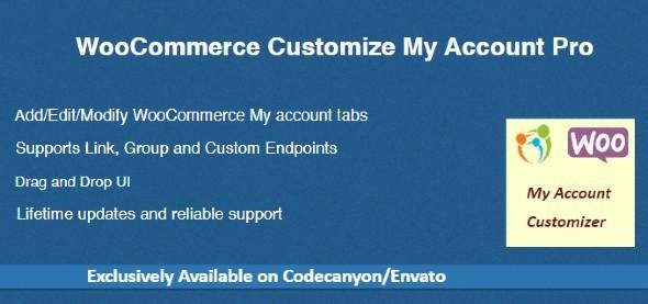 Wordpress E-Commerce Plugin WooCommerce Customize My Account Pro