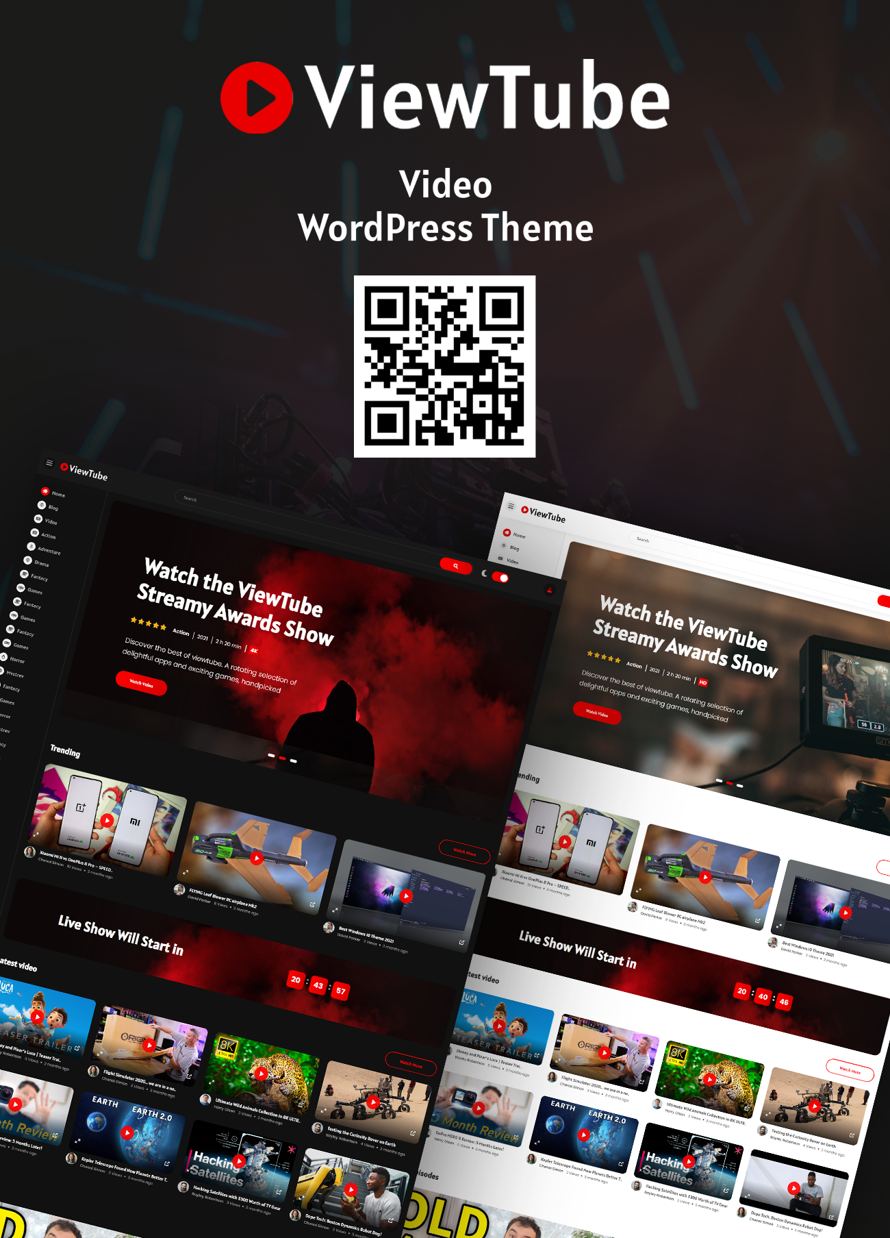 ViewTube |  Video-Streaming-WordPress-Theme - 1