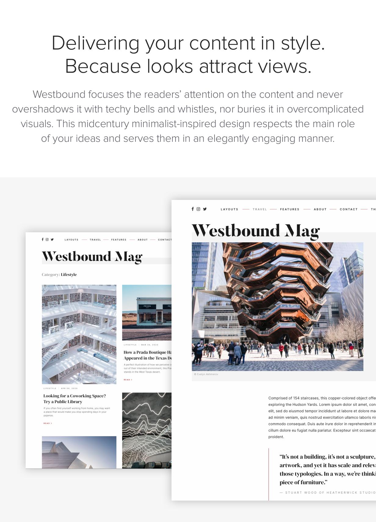 Westbound - Ein Storyful WordPress Blogging Theme - 1