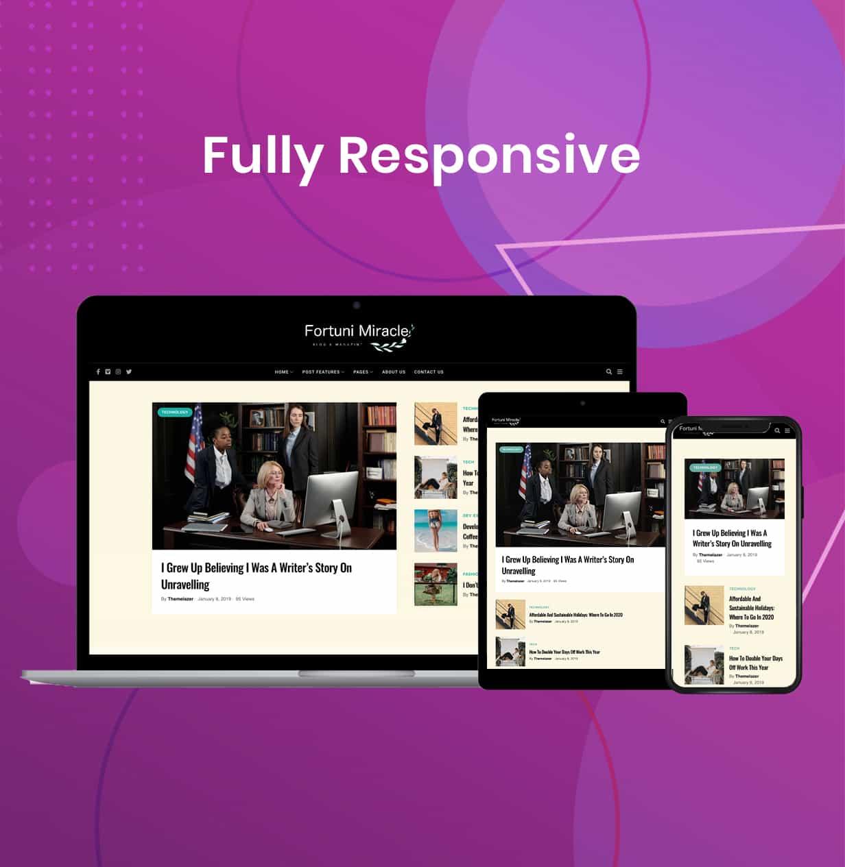 Fortuni - WordPress Blog & Magazine Theme - 8