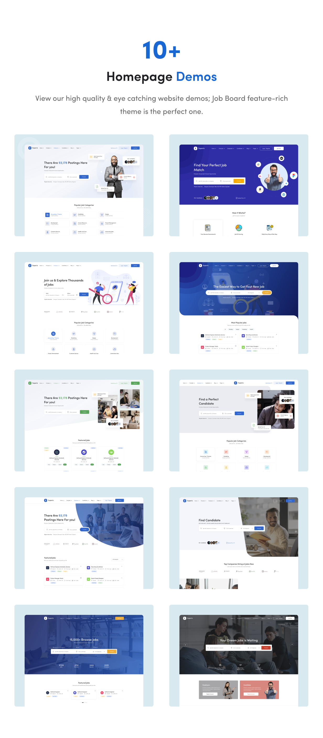 Superio - Job Board WordPress Theme - 6