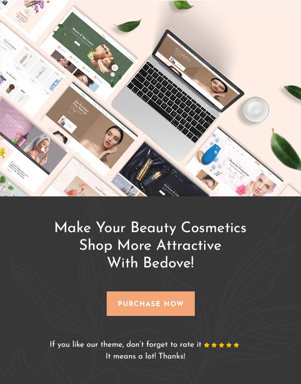 Bedove - WordPress-Theme für Beauty & Cosmetics Shop