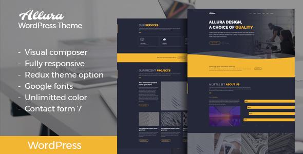Wordpress Kreativ Template Allura - Portfolio WordPress Theme