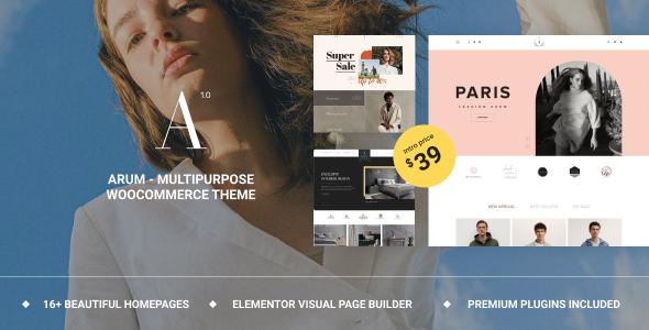 Wordpress Shop Template Arum - Multipurpose WooCommerce Theme