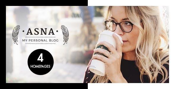 Wordpress Blog Template Asna - Creative Blog