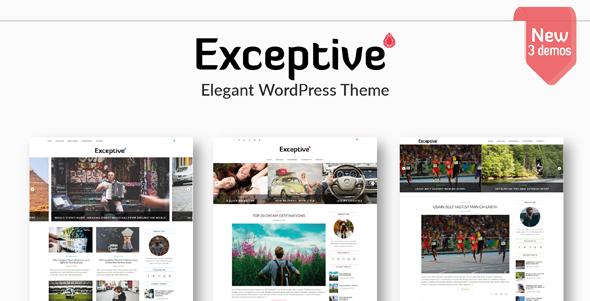 Wordpress Blog Template Exceptive - Elegant WordPress Theme
