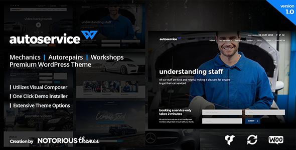 Wordpress Immobilien Template AutoService - Mechanic & Car Repairs WordPress Theme