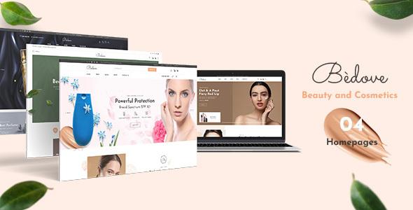 Wordpress Shop Template Bedove - Beauty & Cosmetics Shop WordPress Theme