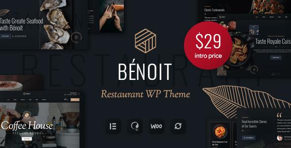 Wordpress Entertainment Template Benoit - Restaurants & Cafes WordPress Theme