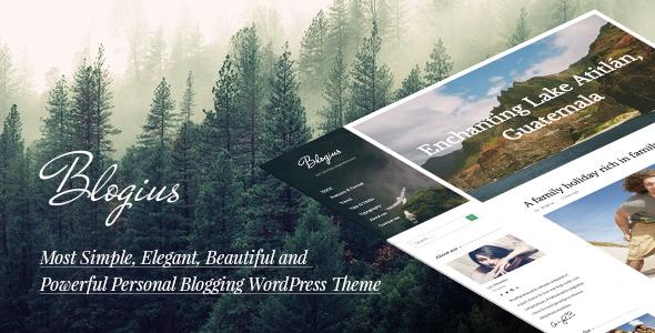 Wordpress Blog Template Blogius | Powerful Responsive Personal Blog Theme