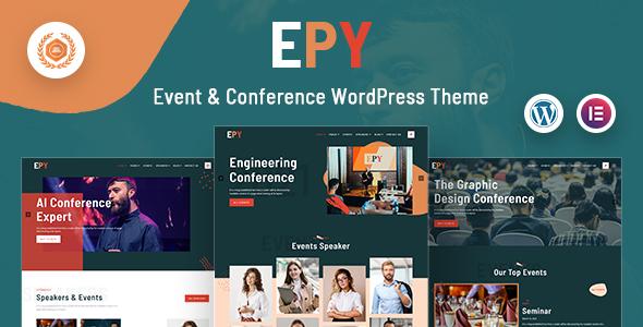 Wordpress Entertainment Template Epy | Event Conference WordPress Theme