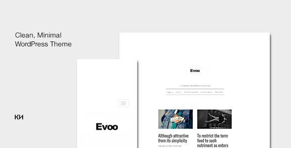 Wordpress Blog Template Evoo - WordPress Theme for Bloggers