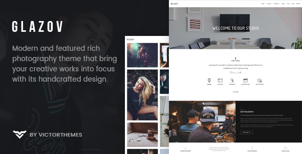 Wordpress Kreativ Template Glazov - Photography WordPress Theme