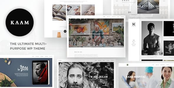 Wordpress Kreativ Template Kaam - Responsive Ajax Creative Theme