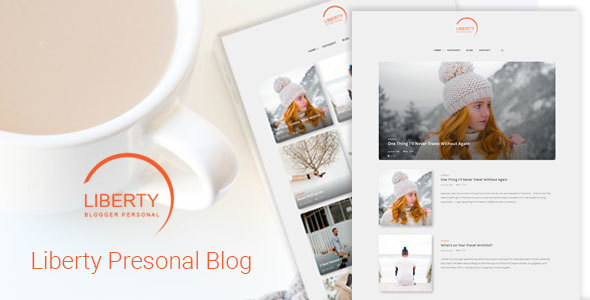 Wordpress Blog Template Liberty - A Clean Personal WordPress Blog Theme