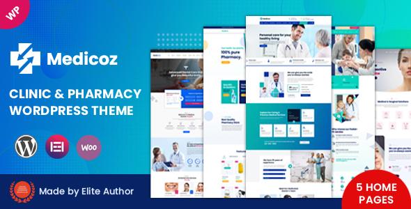 Wordpress Immobilien Template Medicoz - Clinic & Pharmacy WordPress Theme