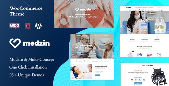 Wordpress Shop Template Medzin – Multipurpose Medical WooCommerce WordPress Theme