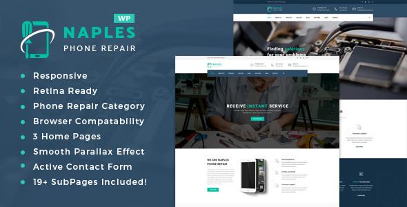 Wordpress Immobilien Template Naples - Phone Repair Shop WordPress Theme