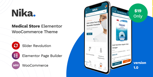 Wordpress Shop Template Nika - Medical Elementor WooCommerce Theme