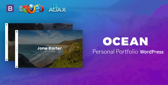 Wordpress Kreativ Template Ocean - Personal Portfolio WordPress Theme