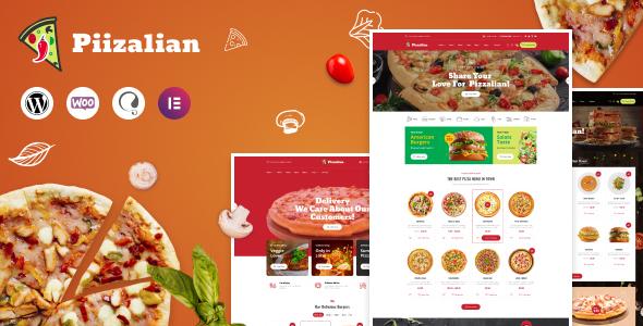 Wordpress Shop Template Piizalian - Fast Food Restaurant WordPress Theme