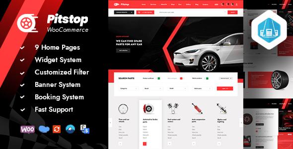 Wordpress Shop Template Pitstop - Auto Parts WooCommerce