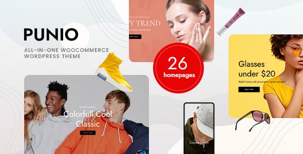 Wordpress Shop Template Punio – All-in-one WooCommerce WordPress Theme
