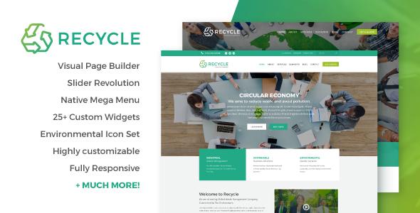 Wordpress Immobilien Template Recycle - Environmental & Green Business WordPress Theme