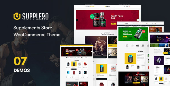 Wordpress Shop Template Supplero - Supplement Store WooCommerce Theme